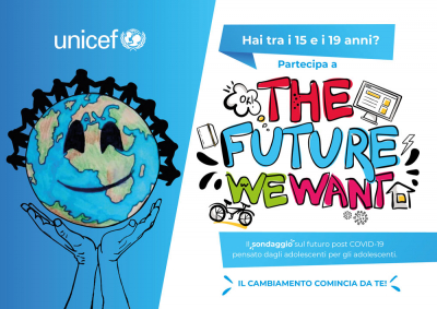"UNICEF: ""The Future We Want"": un sondaggio per gli adolescenti sul post-COVID"